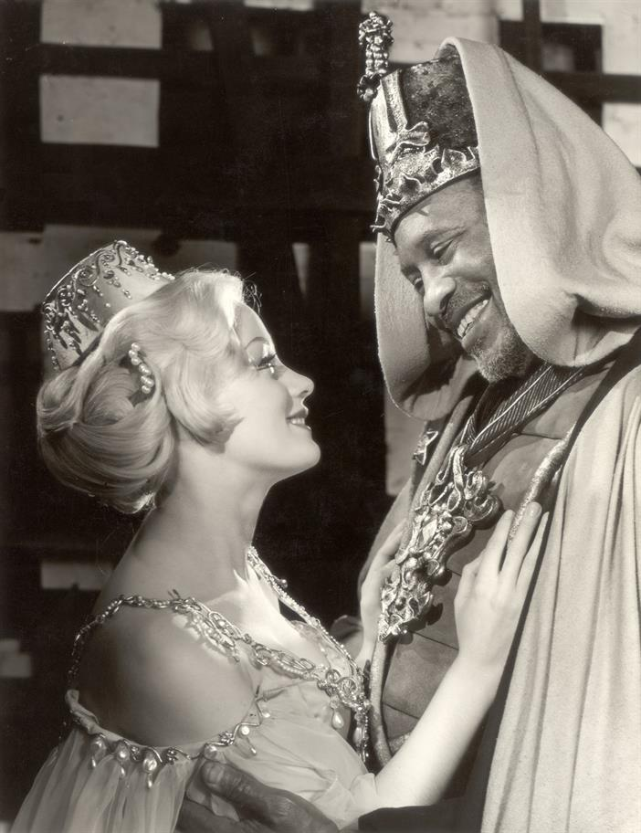 Desdemona (Mary Ure) and Othello (Paul Robeson) in Othello, 1959, directed by Tony Richardson