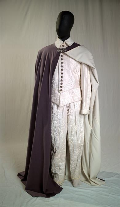 Silk suit costume designed by Pamela Howard and worn by Donald Sinden as Othello, 1979