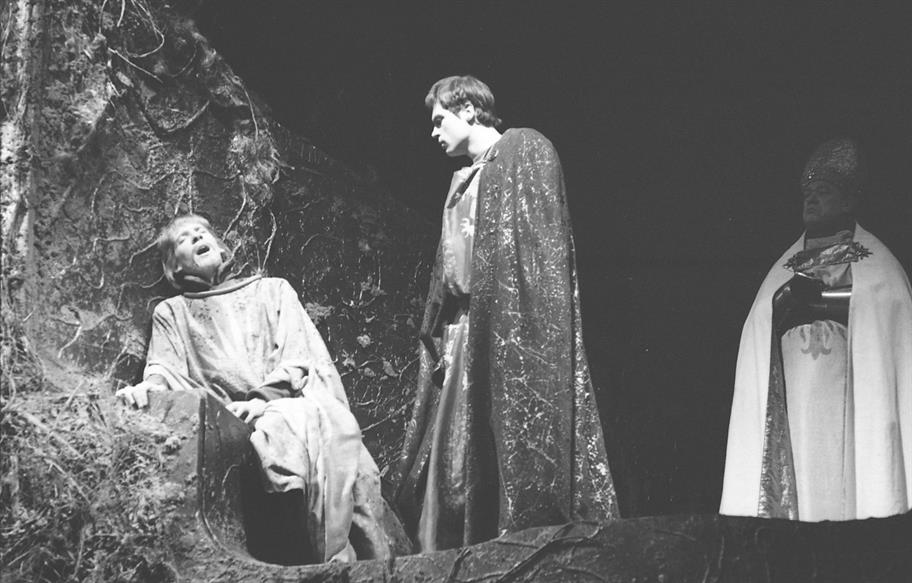 David Warner in Richard II 1964 directed by John Barton, Clifford Williams, Peter Hall