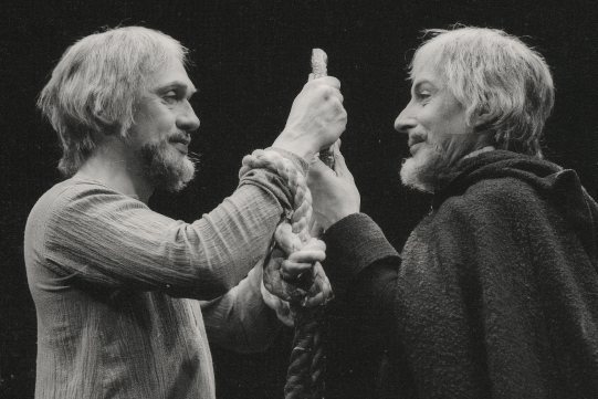 Richard Pasco as Richard II and Ian Richardson as Bolingbroke in John Bartons' 1973 production