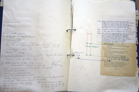 Prompt book for John Barton's  Richard II a the Aldwych 1974-75