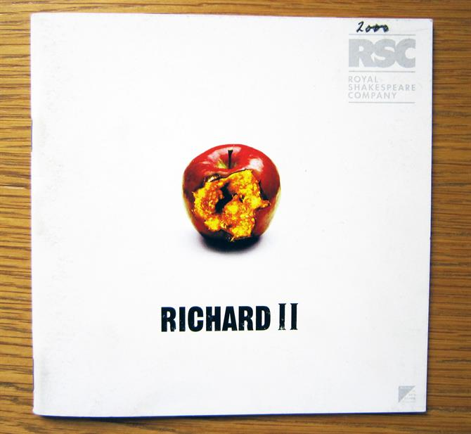 Richard II programme with a bitten apple on the front, showing its bright yellow insides