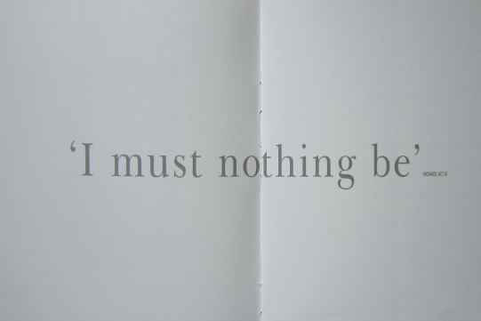 Quote: 'I must nothing be' deposition scene in Act 4, Scene 1 of Richard II reproduced in 2000 programme