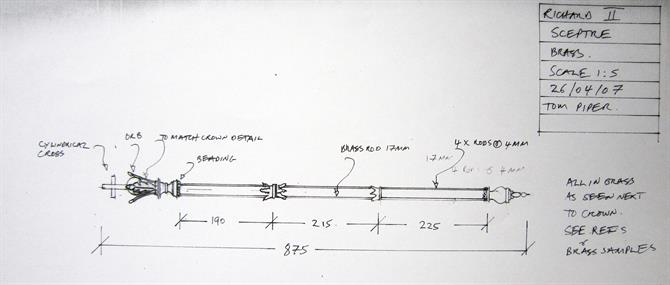Tom Piper's design for the sceptre in Richard II 2007