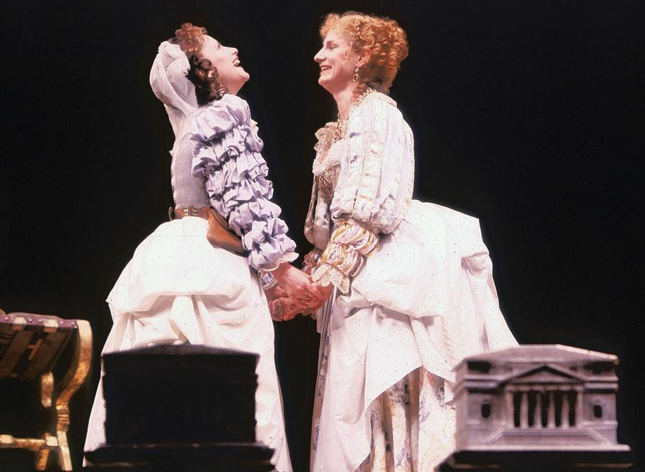 Nerissa jokes with Portia about the latter's suitors in The Merchant of Venice 1987