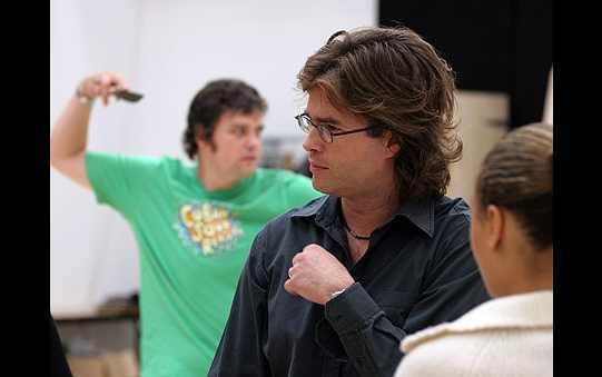 Director Rupert Goold in rehearsal.