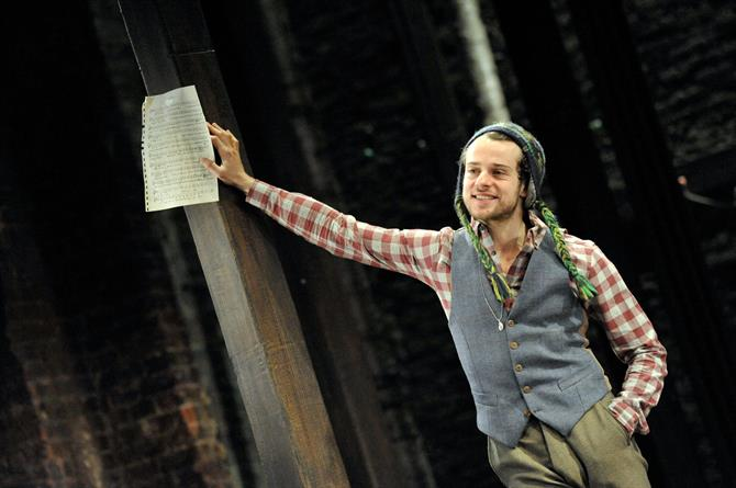 Alex Waldmann as Orlando in As You Like It.