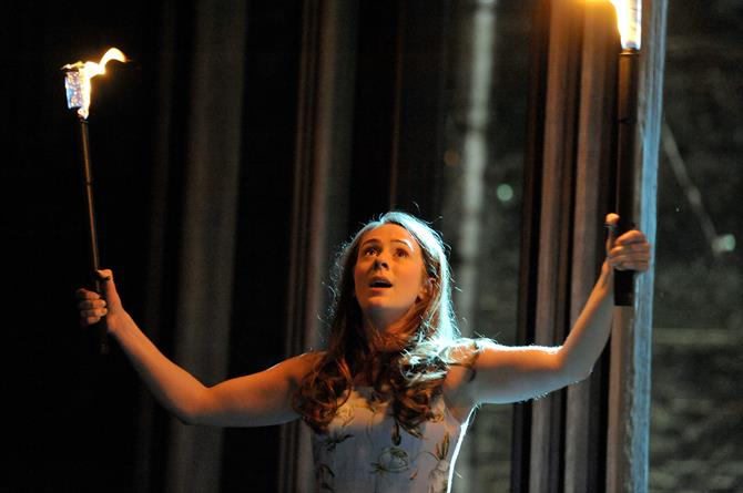 Joanna Horton as Celia in As You Like It.