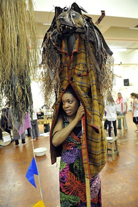 Kiza Deen in rehearsal for As You Like It.