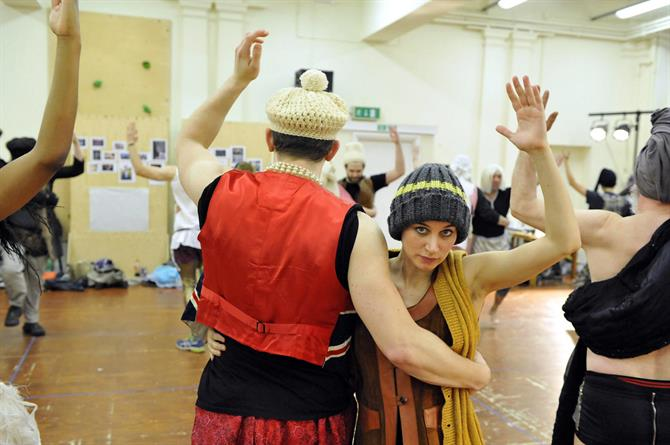 Pippa Nixon in rehearsal for As You Like It.