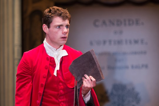 Matthew Needham as Candide in Candide.