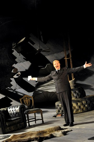 Jonathan Slinger as Malvolio in Twelfth Night.