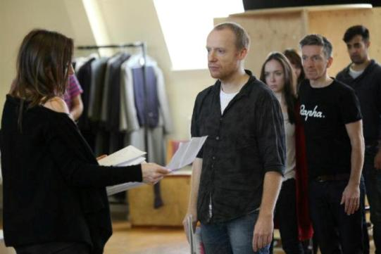 The cast of Twelfth Night in rehearsal