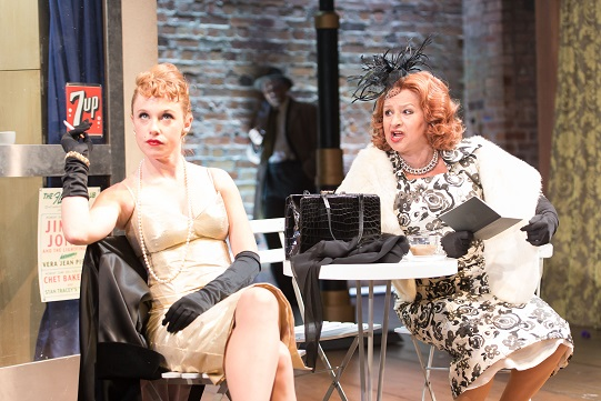 Sarah Ridgeway as Truly Kidman and Ishia Bennison as Mrs Kidman in A Mad World My Masters. Photo by Manuel Harlan