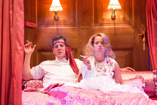 John Hopkins as Penitent Brothel and Ellie Beaven as Mrs Littledick in A Mad World My Masters.