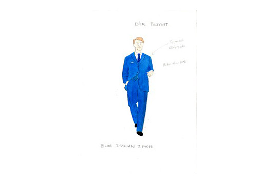 Costume design for Dick Follywit in A Mad World My Masters by Alice Power