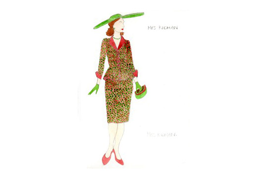 Costume design for Mrs Kidman in A Mad World My Masters by Alice Power