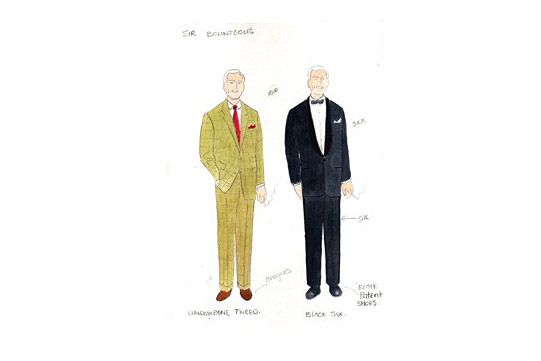 Costume design for Sir Bounteous in A Mad World My Masters by Alice Power