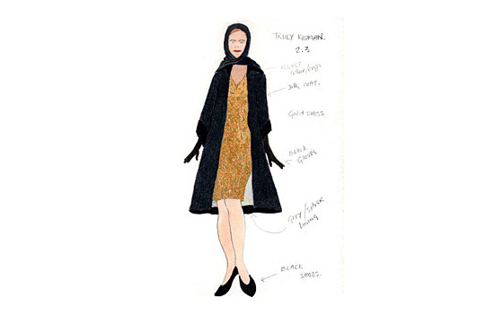 Costume design for Truly Kidman in A Mad World My Masters by Alice Power