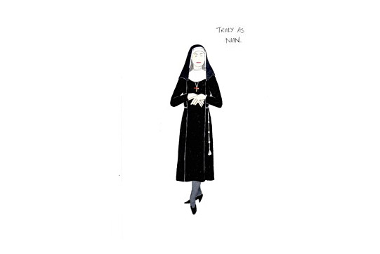 Costume design for Truly as a Nun in A Mad World My Masters by Alice Power