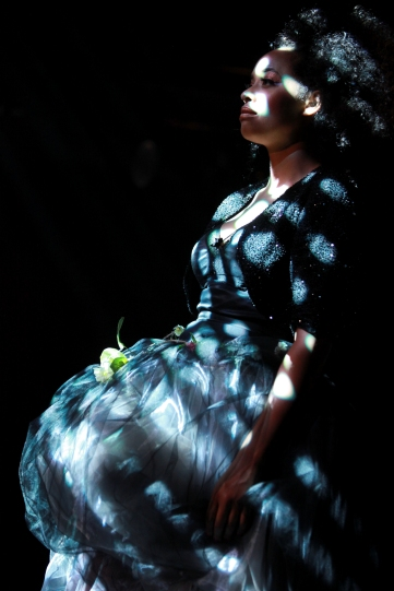 Production image of Amanda Wilkin as Fairy.