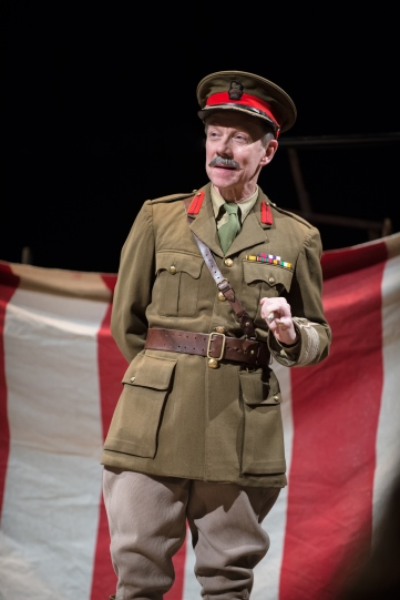 Jamie Newall in military uniform as Colonel Faulkner in The Christmas Truce.
