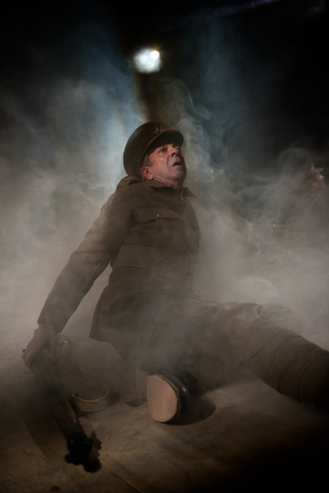Roderick Smith as Bert, dying in a smoke-filled trench in The Christmas Truce.