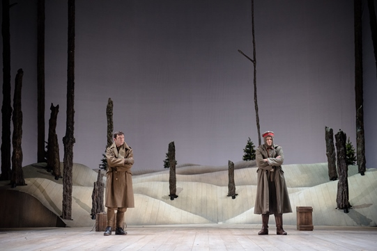 Harry Waller as Smith and Oliver Lynes as Schmidt in The Christmas Truce.