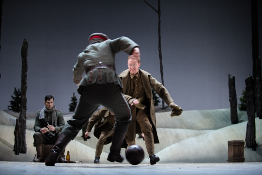 The Company of The Christmas Truce playing football