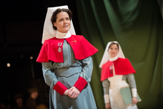 Leah Whitaker as Matron in The Christmas Truce.