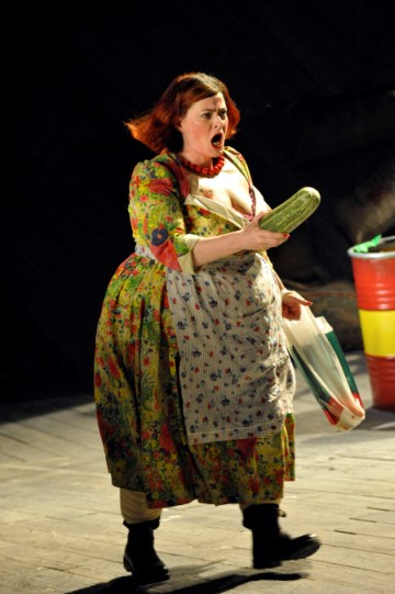 Sarah Belcher as Nell in The Comedy of Errors.