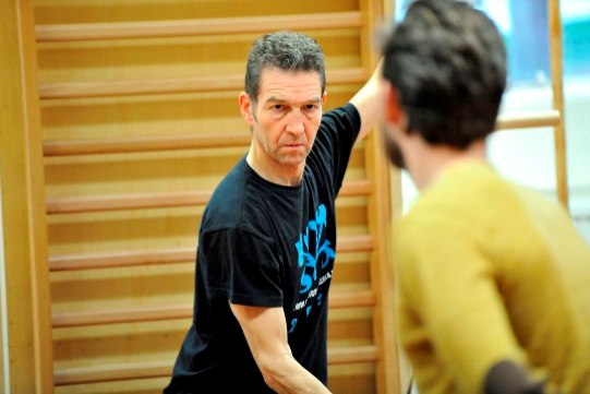 Greg Hicks in rehearsal for Hamlet. Photo by Keith Pattison