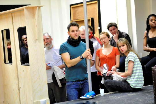 The cast of Hamlet in rehearsal.