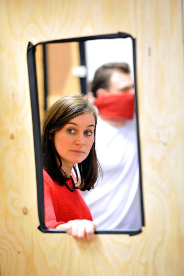 Pippa Nixon in rehearsal for Hamlet.