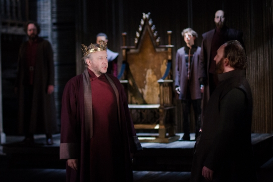 Jasper Britton as King Henry IV, Antony Byrne as Earl of Worcester in Henry IV Part I 2014