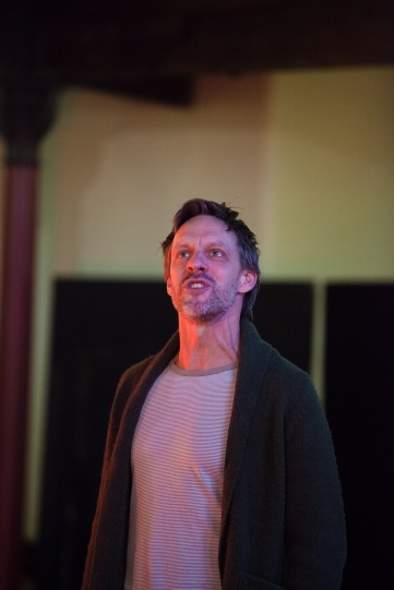 Trevor White as Hotspur in rehearsal for Henry IV Part I 2014