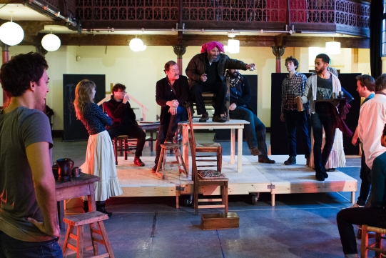 The cast in rehearsal for Henry IV Part I 2014
