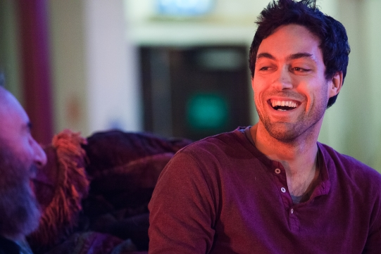 Alex Hassell as Prince Hal in rehearsal for Henry IV Part I 2014