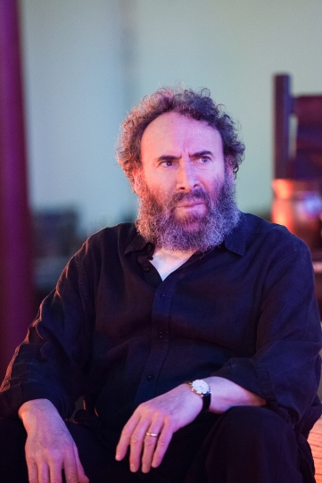 Antony Sher as Sir John Falstaff in rehearsal for Henry IV Part I 2014