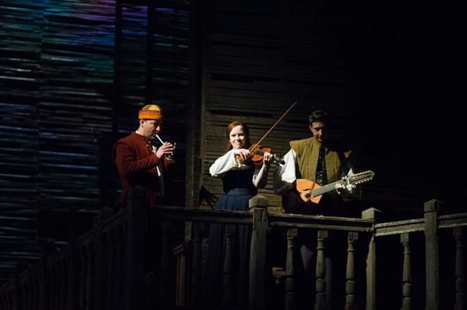 Musicians playing in the gallery in Henry IV Part II 2014