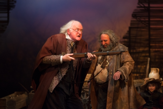 Oliver Ford Davies as Justice Shallow and Antony Sher as Sir John Falstaff in Henry IV Part II 2014