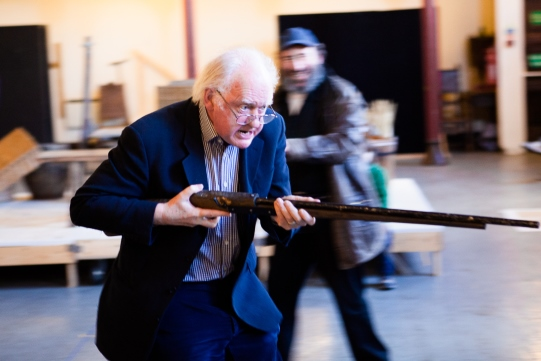 Oliver Ford Davies as Shallow in rehearsal for Henry IV Part II 2014