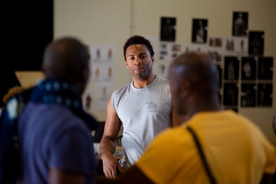 Ray Fearon in rehearsal for Julius Caesar.