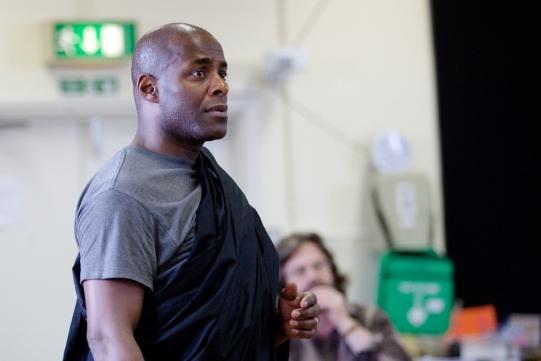 Paterson Joseph in rehearsal for Julius Caesar.
