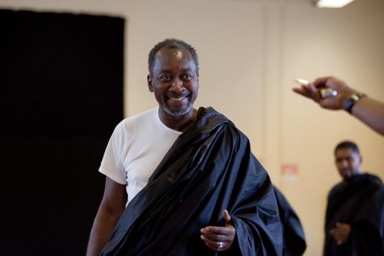 Joseph Mydell in rehearsal for Julius Caesar.