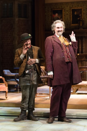 Nick Haverson as Costard and John Hodgkinson as Don Armado in Love's Labour's Lost 2014