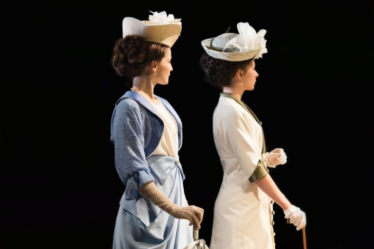 Flora Spencer-Longhurst as Katherine and Frances McNamee as Maria in Love's Labour's Lost 2014