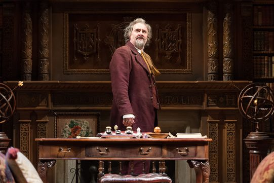 Don Armado (John Hodgkinson) in his study in the 2014 production of Love's Labour's Lost