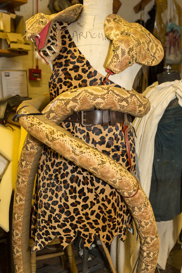 Costume Moth (Peter McGovern) wears as Hercules in the pageant of the Nine Worthies in Love's Labour's Lost 2014