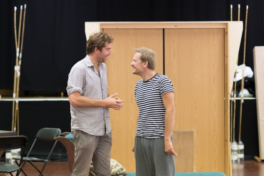 Edward Bennett and Nick Haverson in rehearsal for Love's Labour's Lost 2014